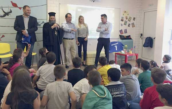 Γιάννενα: Θερμή υποδοχή στον Θ. Ζαγοράκη χθες από τα παιδιά της «Αποστολής»