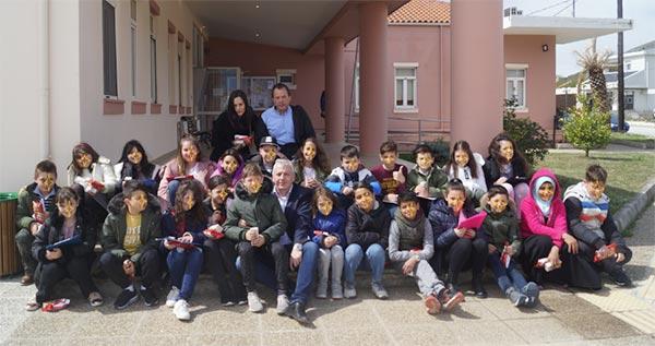 Γιάννενα: Στο Δήμαρχο Ζίτσας χθες μαθητές του 2ου Δημοτ. Σχολείου Ελεούσας