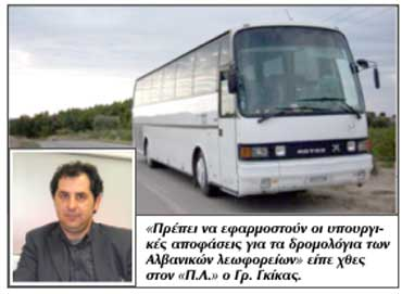 Γρηγόρης Γκίκας, πρόεδρος ΚΤΕΛ Ιωαννίνων